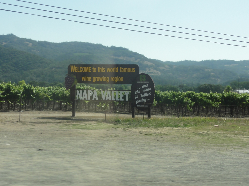 Cheerful welcome to Napa Valley