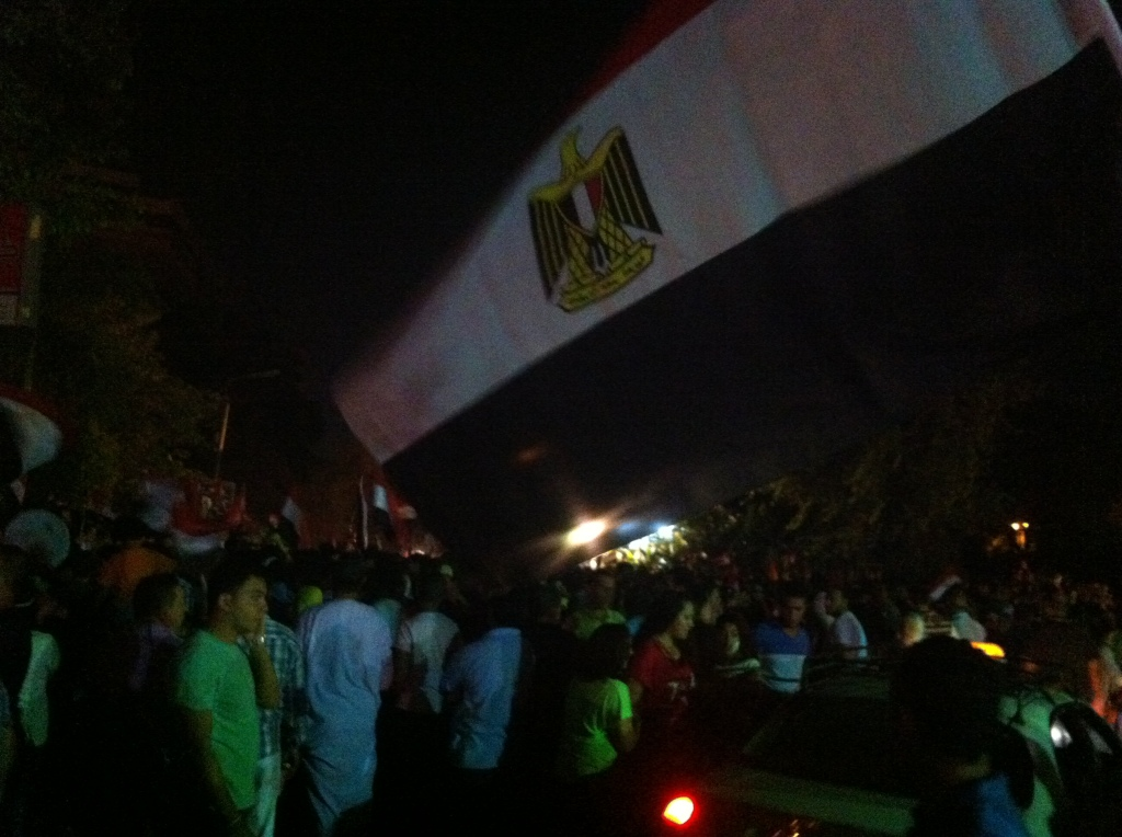 Protesters gather in a midan