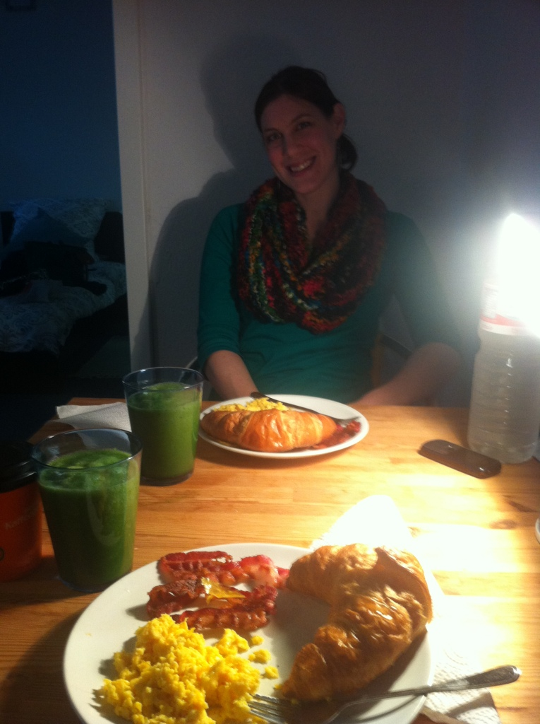 Breakfast with my lovely friend : )