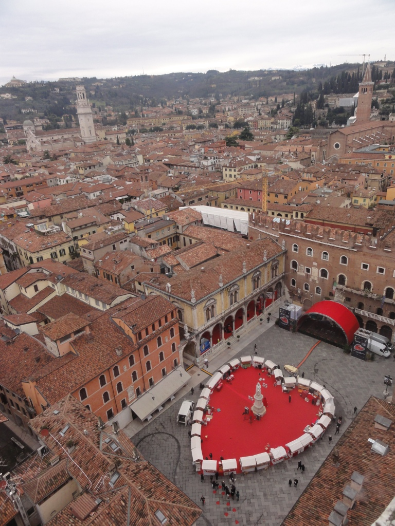 Piazza Signori from Lamberti Tower