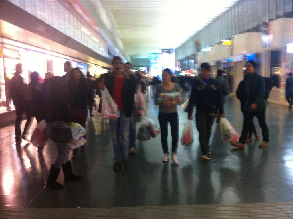 Grocery shopping in Termini