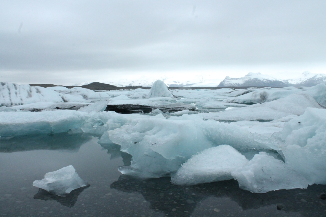 Icebergs drift at a glacial pace in Jokulsarlon.