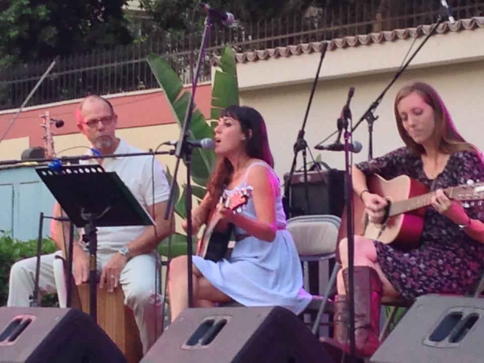 Laura, serenading her adoring fans