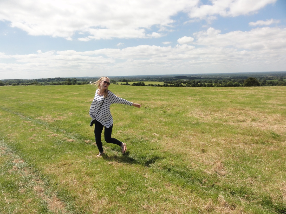 Allison, having a Sound of Music moment at Hill of Tara