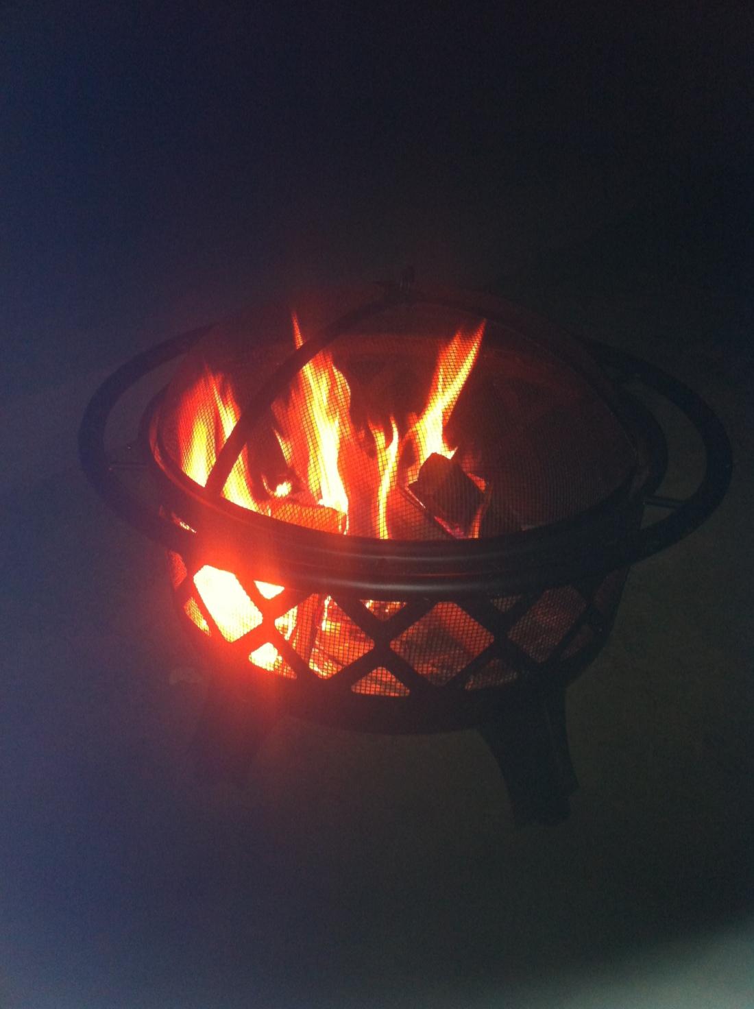Dad got a fire pit