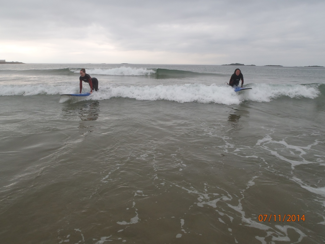 Last wave of the day...I think we were tired.