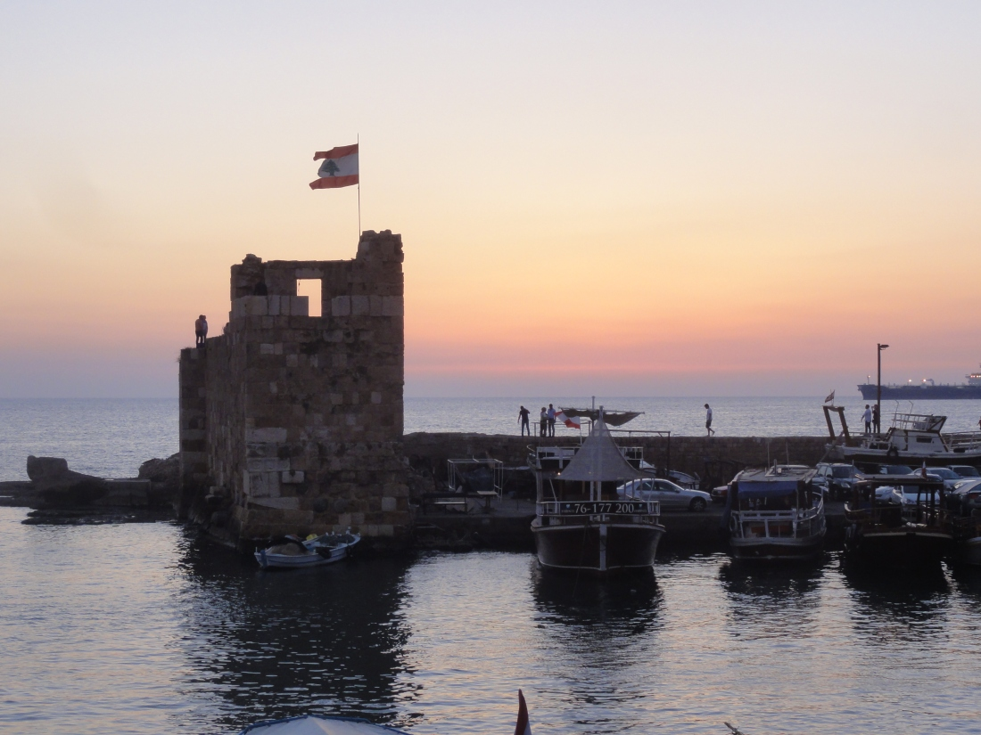 Sunset in Byblos