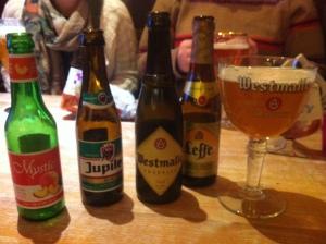 Belgian beers in Belgium
