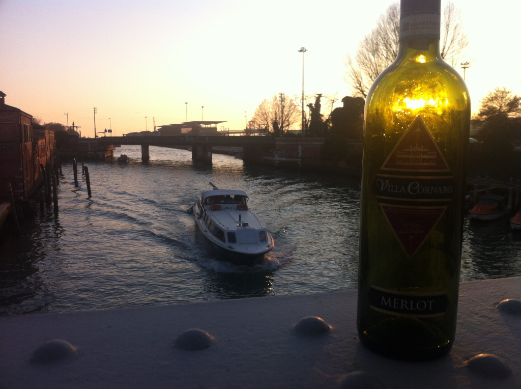 Venetian sunset - and Merlot