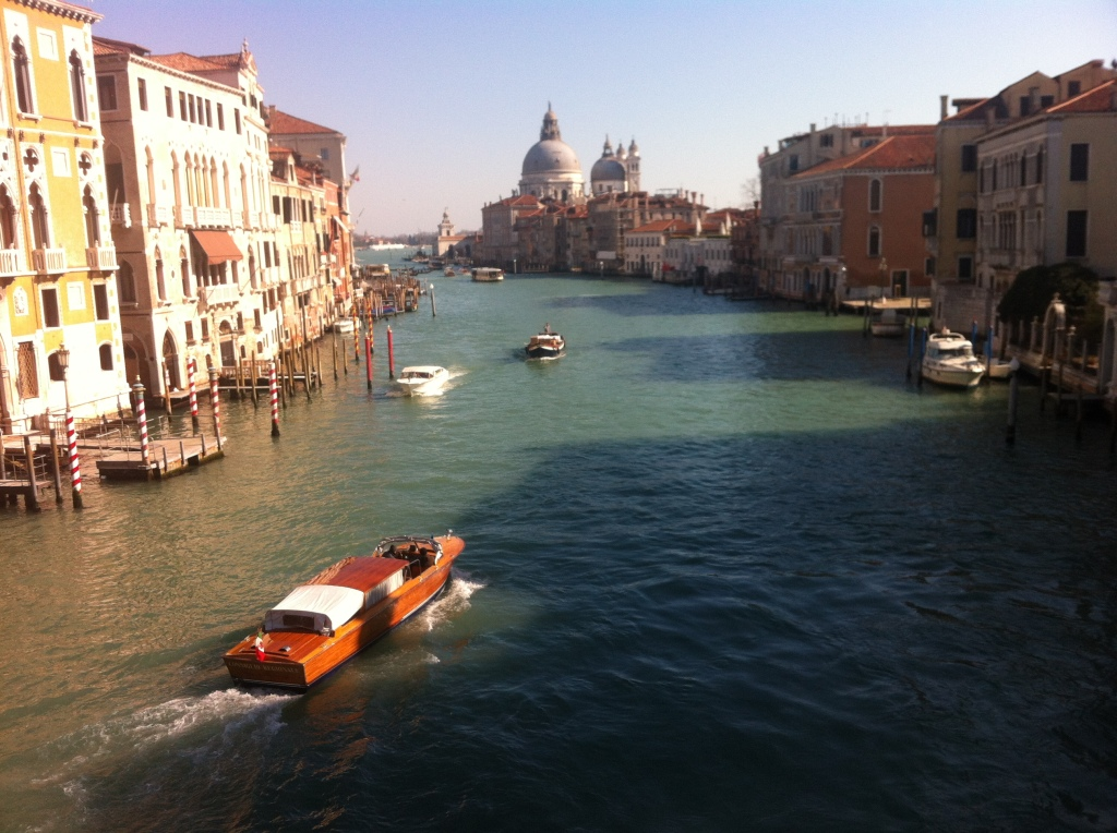 On a bridge over the Grand Canal