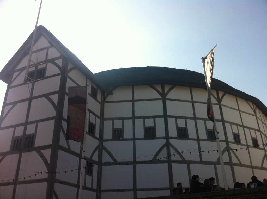 The Globe Theater, designed based on a drawing by a Dutch tourist back in the late 17th/early 18th century