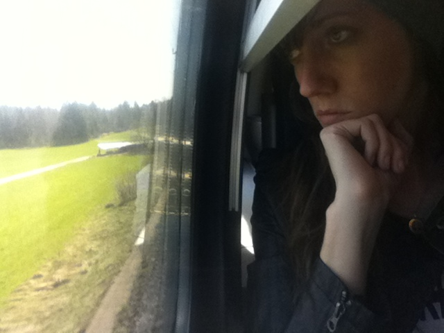 Me, glaring at the Austrian countryside