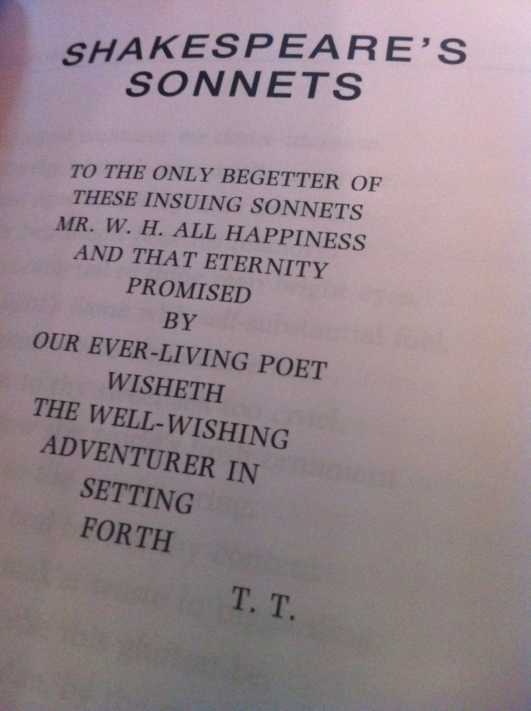 The famously debated dedication in Shakespeare's sonnets