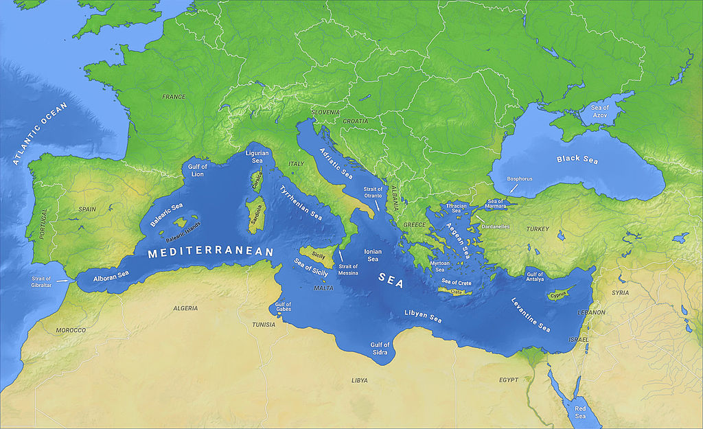 The Mediterranean, happily being spooned by Europe and Africa.
