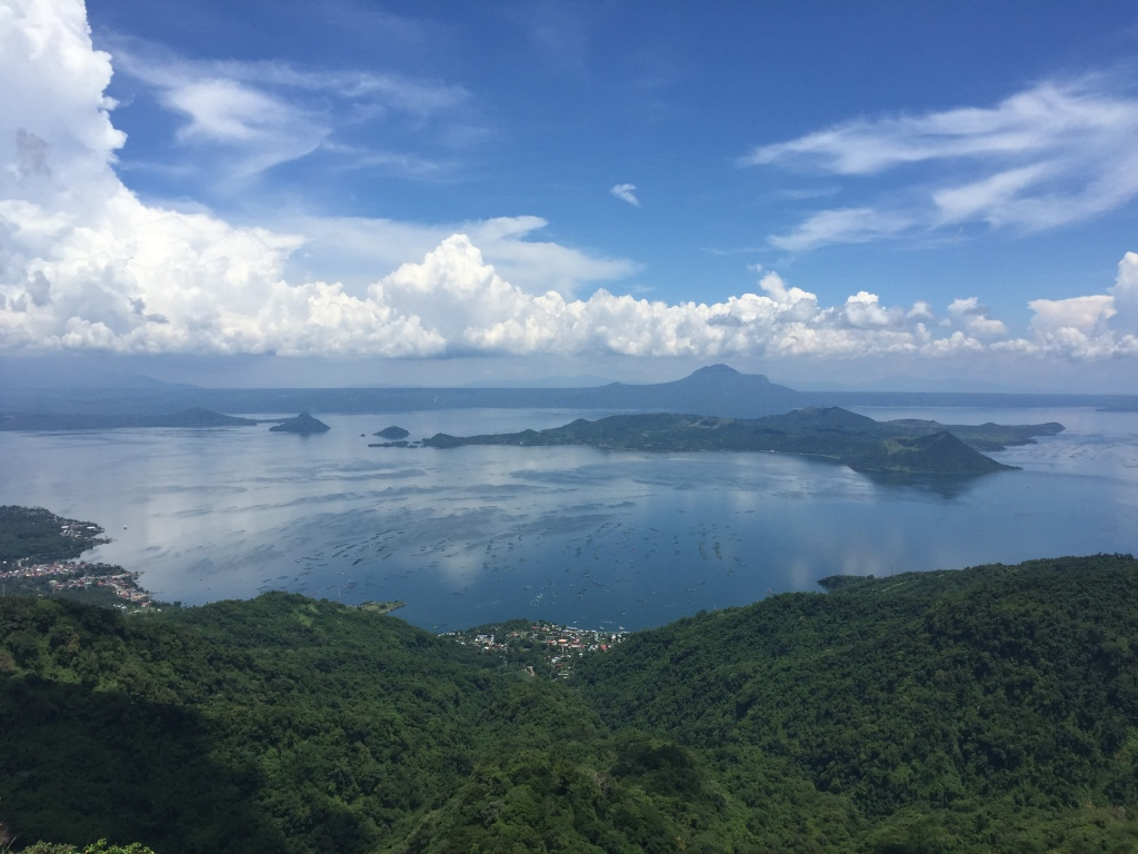 Tagaytay, a volcano. Because eating lunch at a volcano is no big deal here in the Philippines.