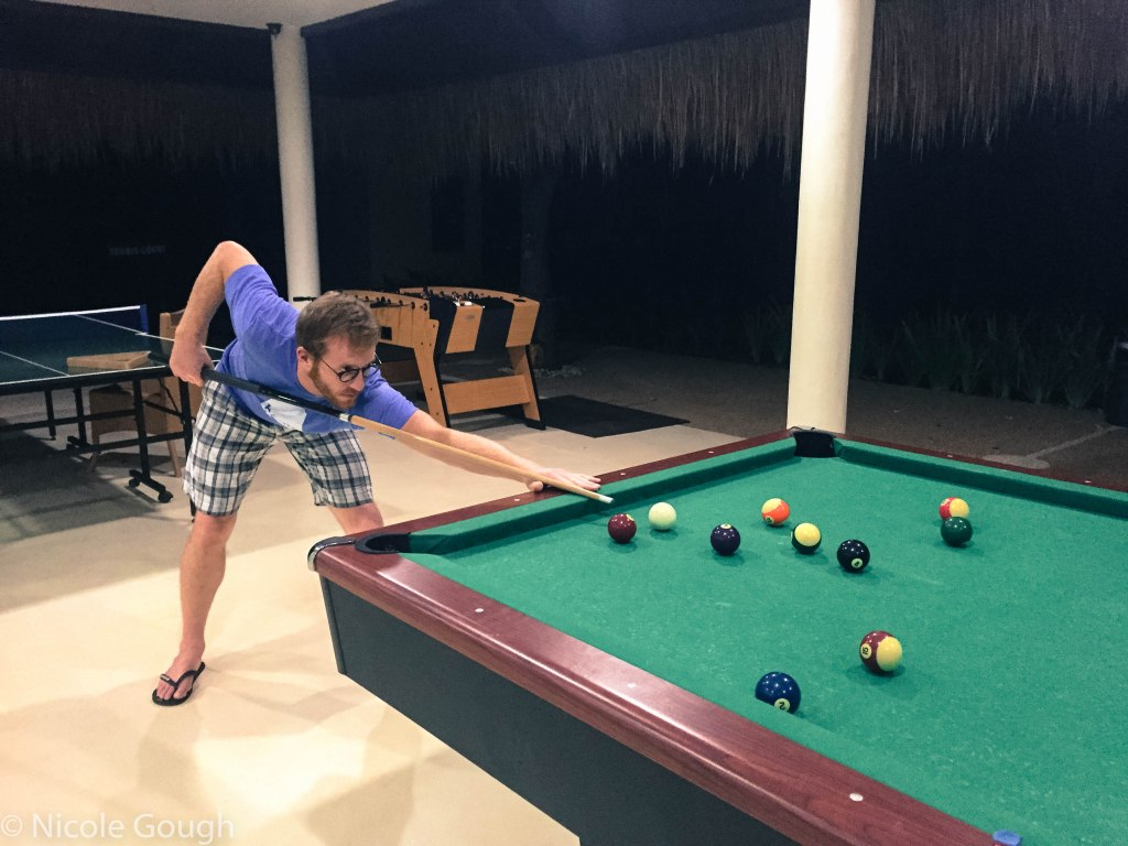 I like to think I held my own against this pool shark