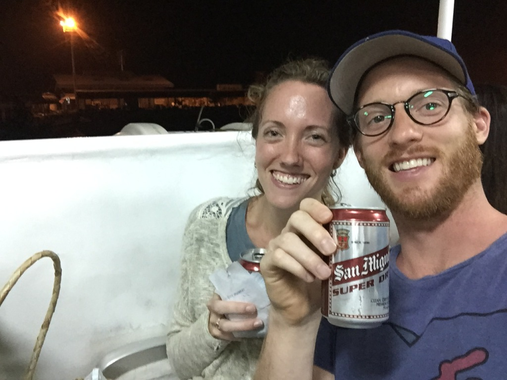 Leg 2 - On board the ferry with much-needed San Miguel