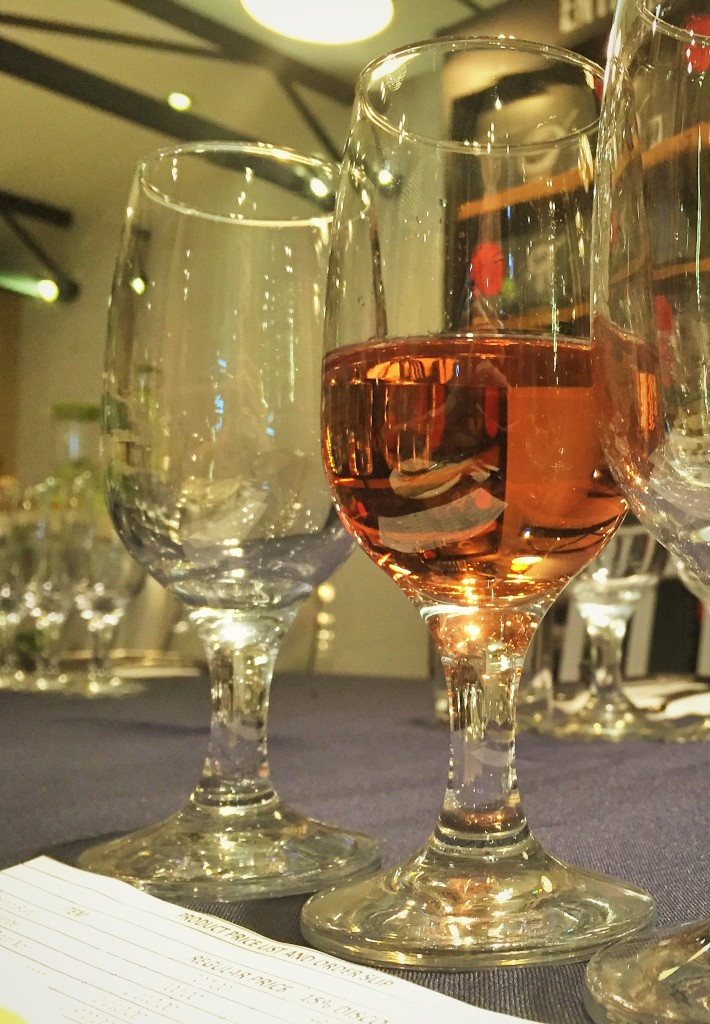 Pictured: White Zinfandel. Is that other glass empty, or is it full of potential??