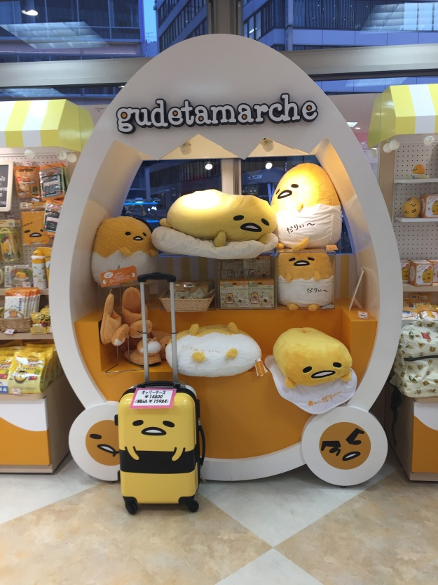 Gudetama at the Sanrio store!