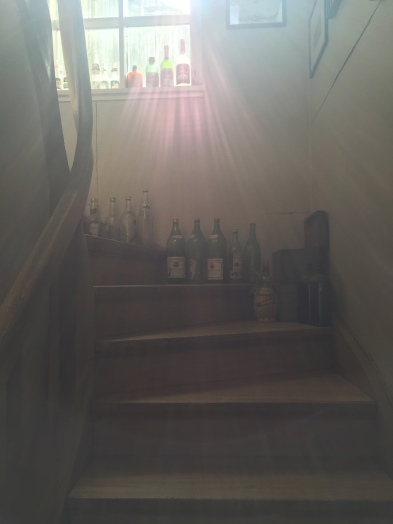 Staircase in the AirBnB.