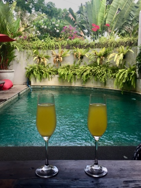 Every vacation should begin and end with mimosas.