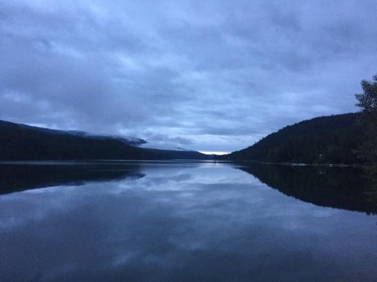 Morning lake stop.